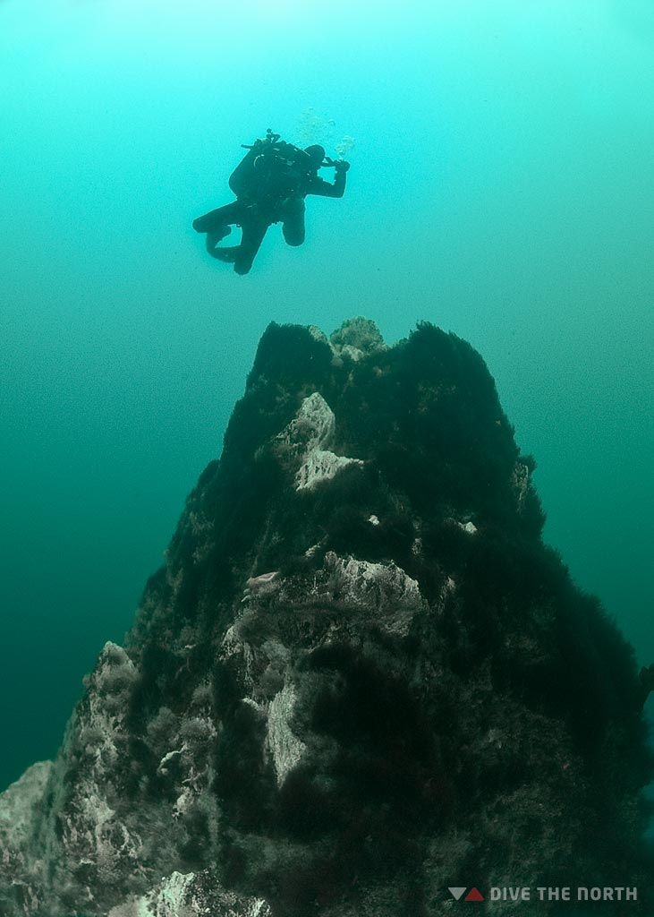 Strytan, diving in Iceland, geothermal chimney